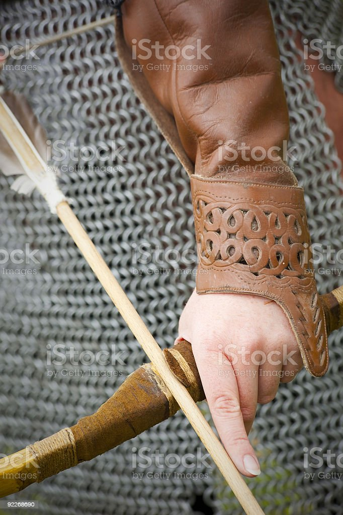 bow and arrow / medieval armor  historical story royalty-free stock photo