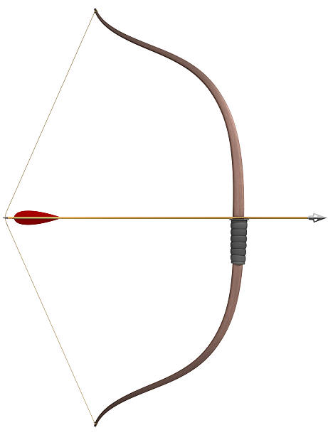 bow and arrow - arrow bow and arrow stock pictures, royalty-free photos & images