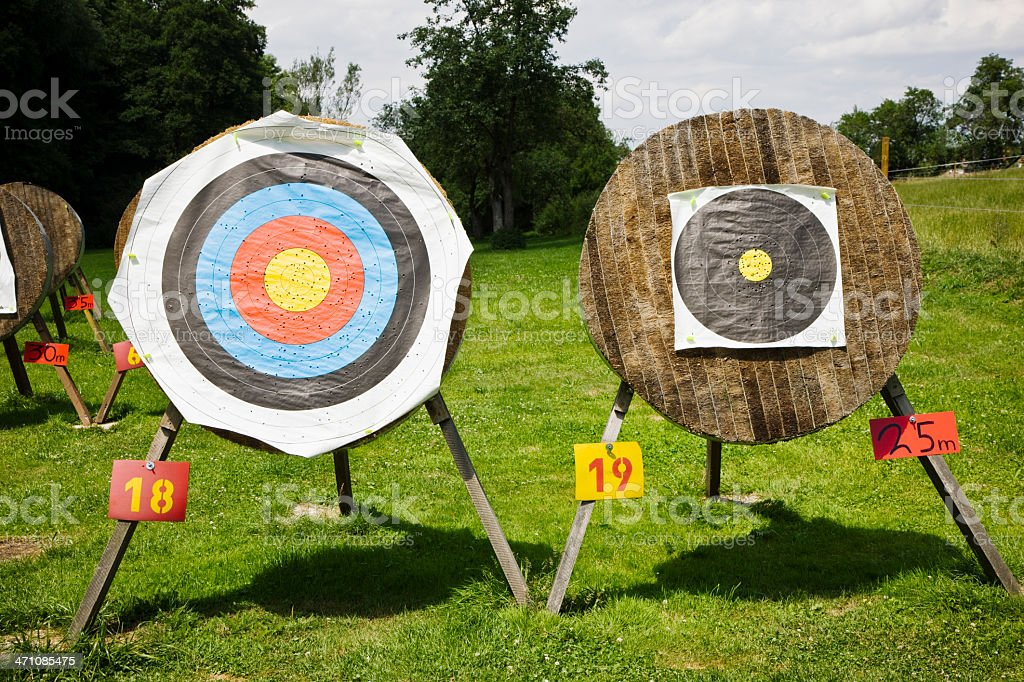 bow and arrow targets royalty-free stock photo