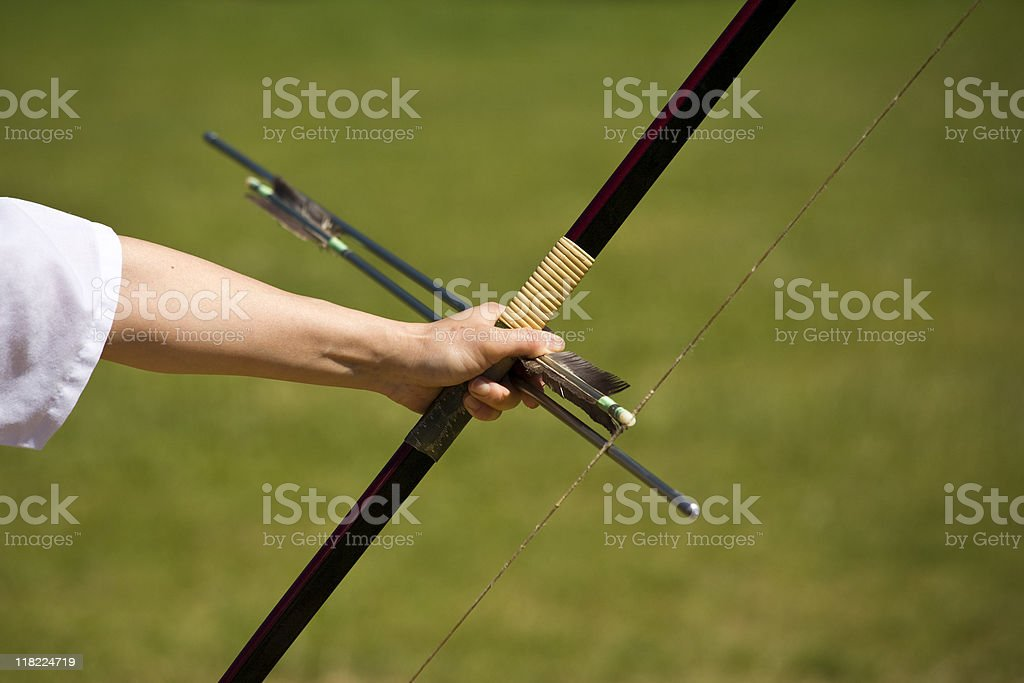 bow and arrows stock photo
