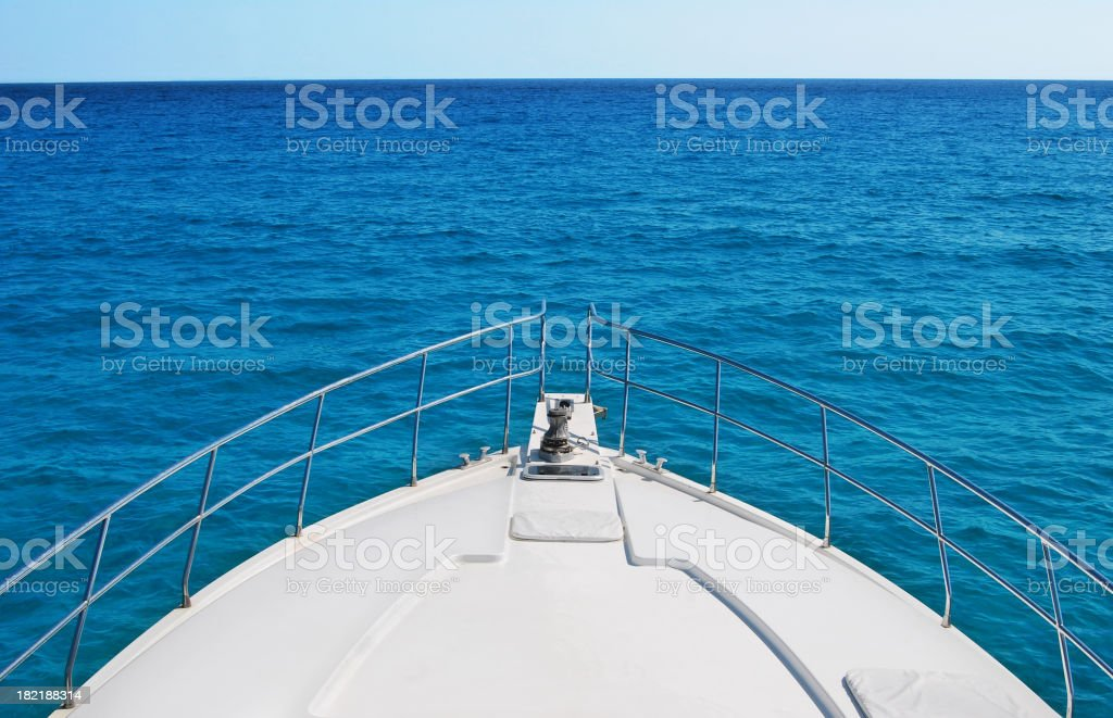 Bow and ocean stock photo