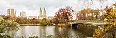 Bow Bridge in Central Park.  New York City, USA