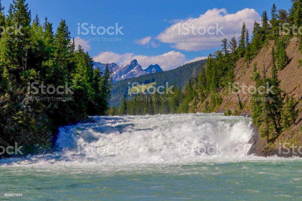 Bow Falls in Banff stock photo