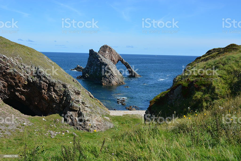 Bow Fiddle Rock and Cliffs stock photo