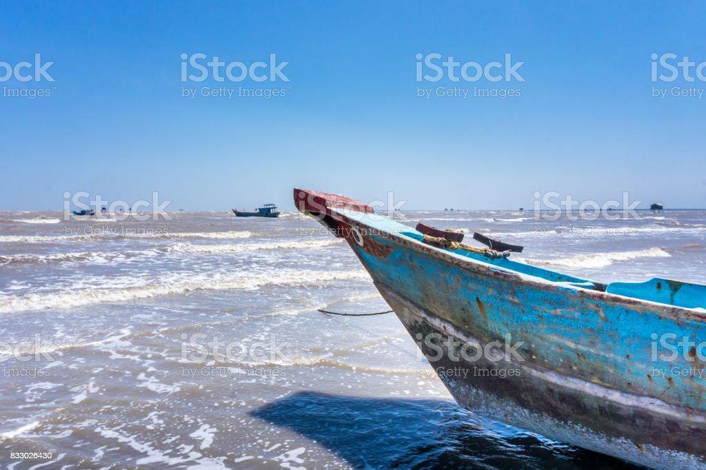 Bow fish ship stock photo