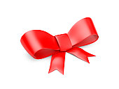 Bow. Image contain clipping path