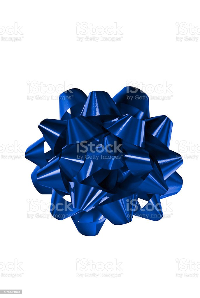 bow in blue royalty-free stock photo
