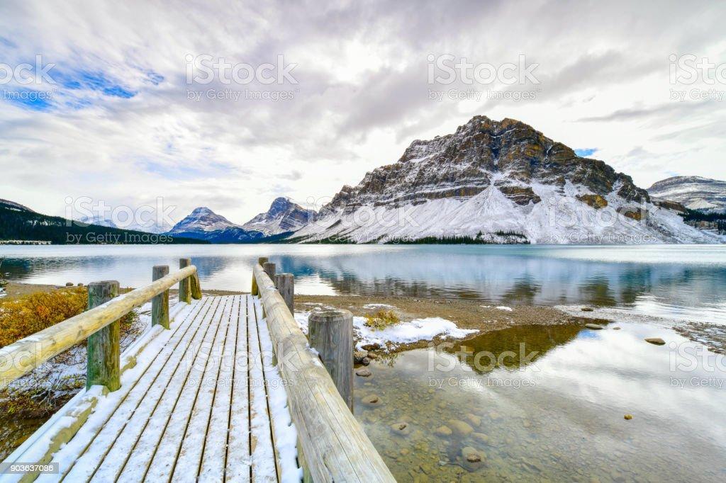 Bow Lake , Alberta, Canada stock photo