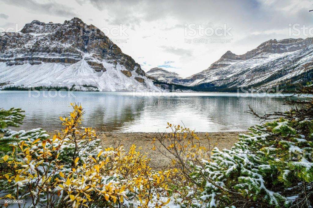 Bow Lake, Alberta, Canada stock photo