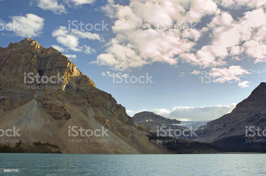 See Bow Lake und Glacier Lizenzfreies stock-foto