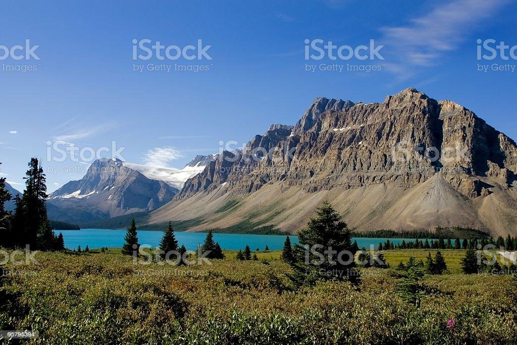 Bow Lake, Banff National Park royalty-free stock photo