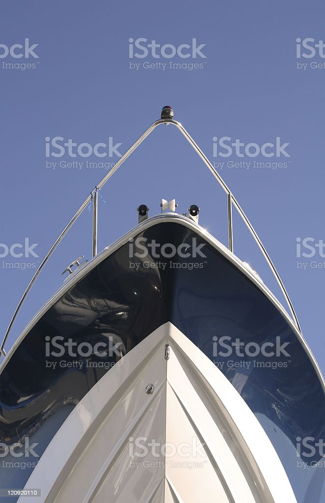 Bow of a boat stock photo