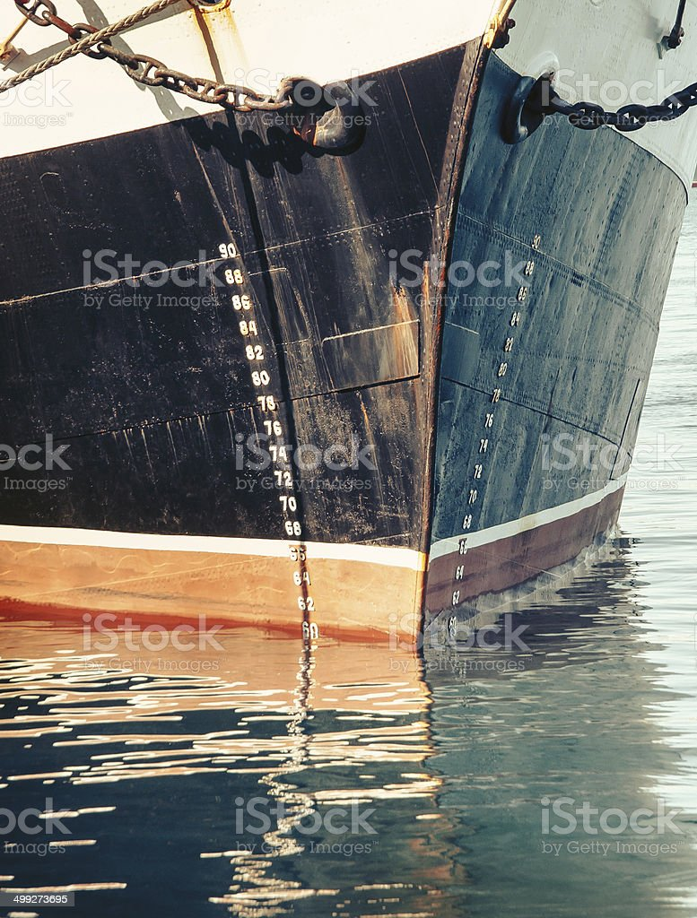Bow of a stock photo