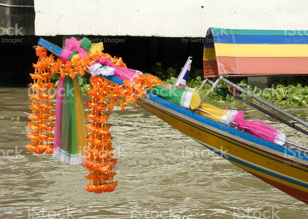Bow of boat in Thailand royalty-free stock photo