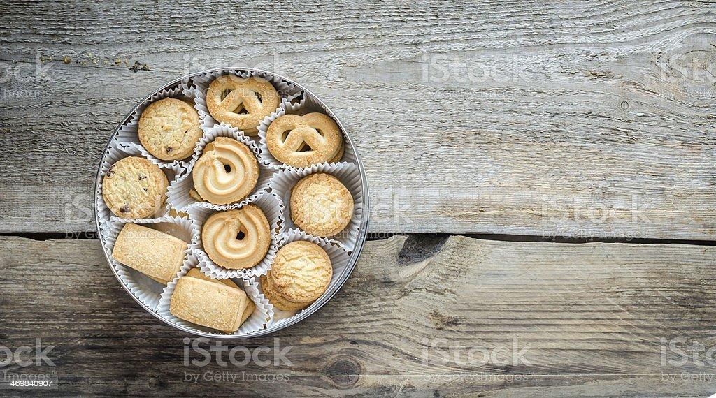 Laço de manteiga de cookies - foto de acervo