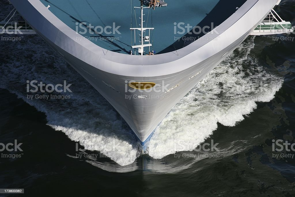 Bow Of Cruise Ship royalty-free stock photo