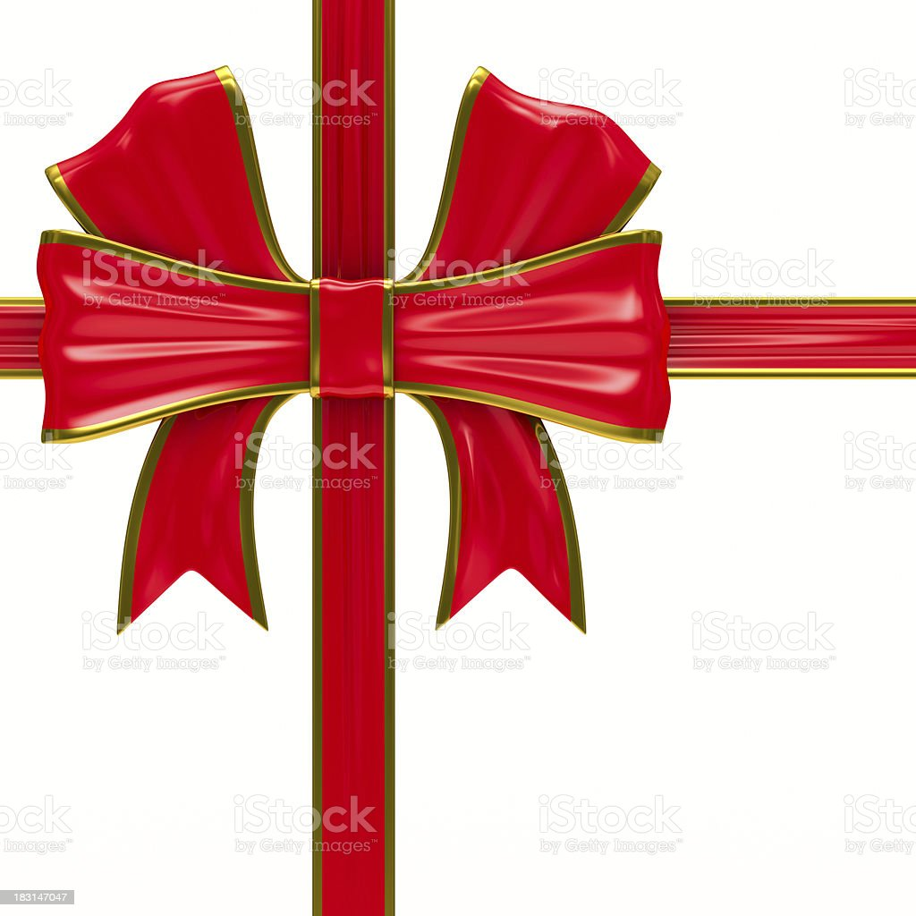 Bow on white background. Isolated 3D image royalty-free stock photo