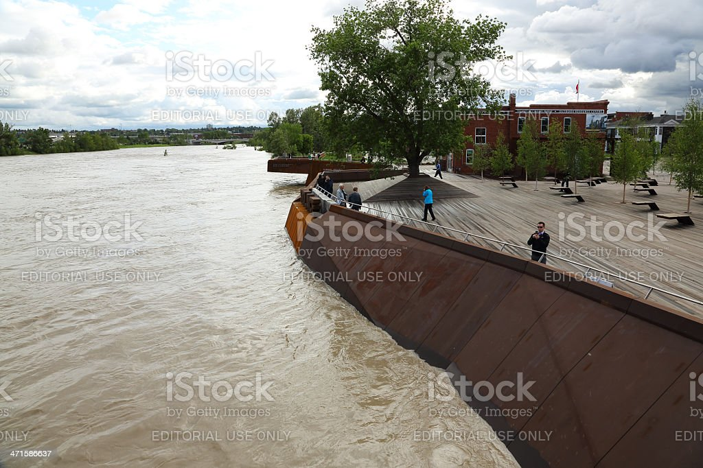 Bow River Flooding royalty-free stock photo