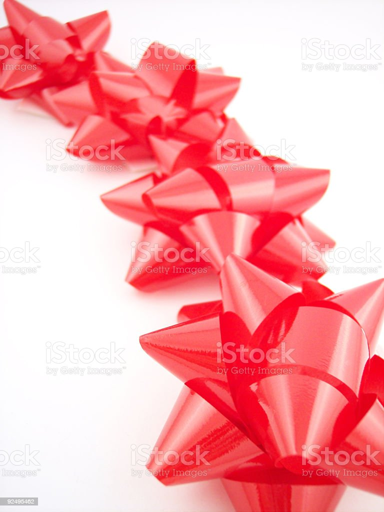Bow Series - Red 2 royalty-free stock photo