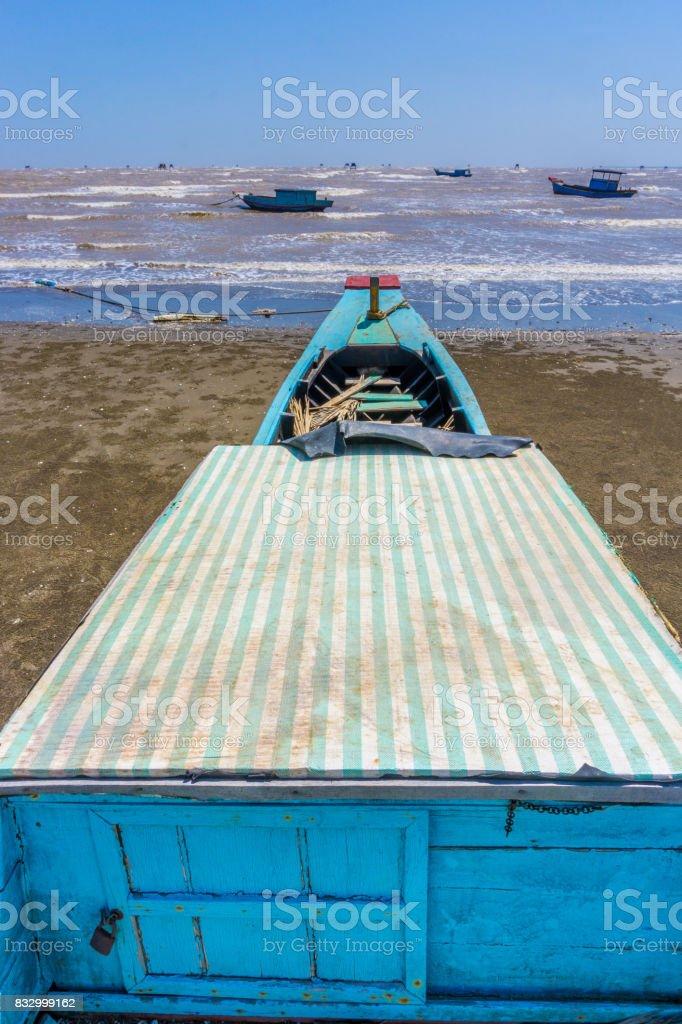 Bow ship to sea stock photo