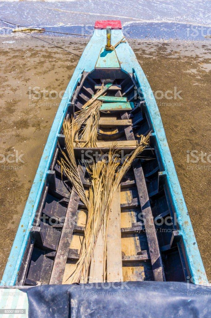 Bow ship to the sea stock photo