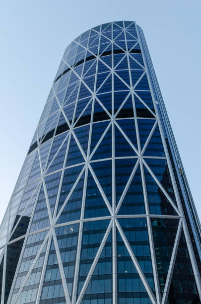 Bow Skyscraper, Calgary stock photo