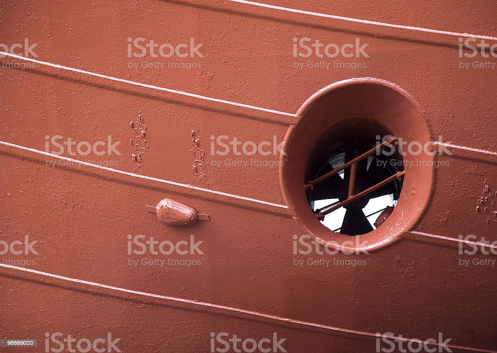 Bow thruster propeller royalty-free stock photo