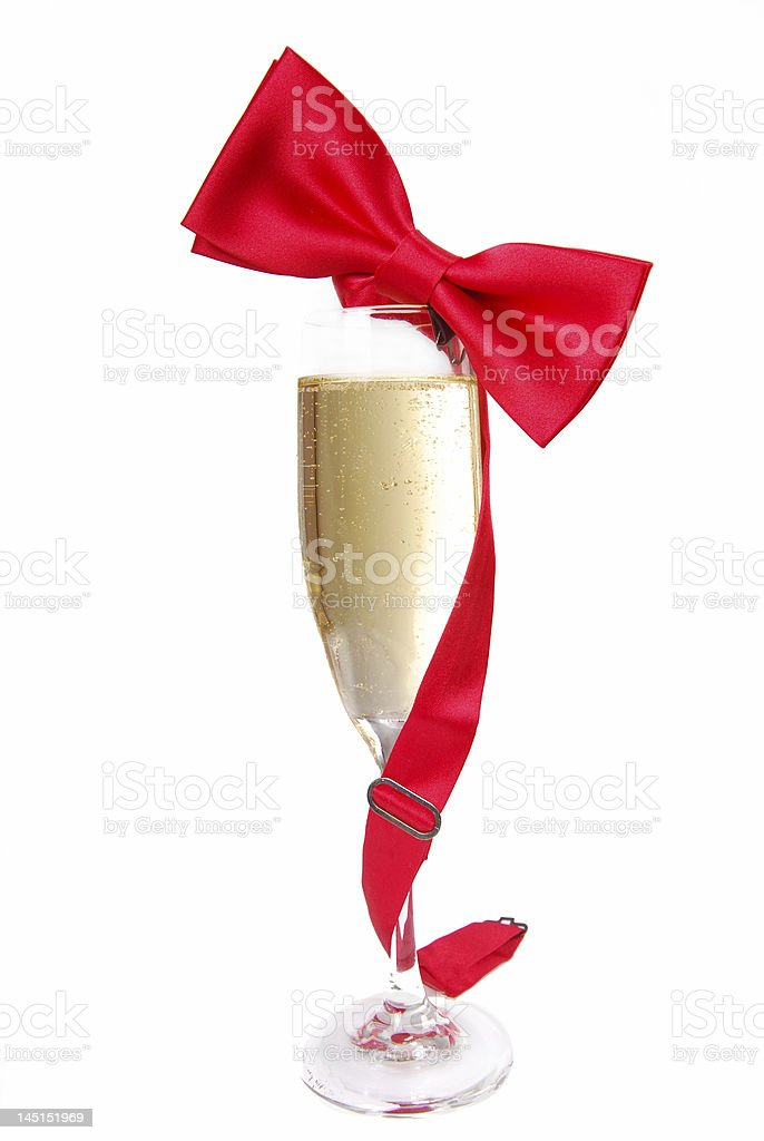 Bow Tie and Champagne royalty-free stock photo