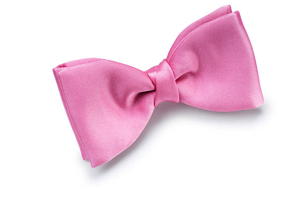 Bow Tie Pink bow tie isolated on white. bow tie stock pictures, royalty-free photos & images