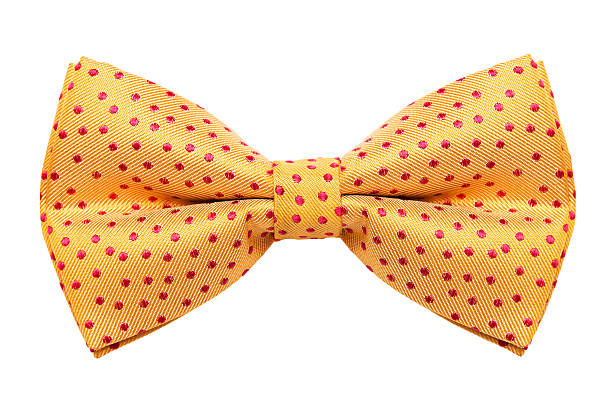 Bow tie Funky polka dotted bow tie isolated on white background bow tie stock pictures, royalty-free photos & images