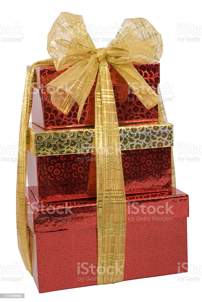 Bow tied boxes royalty-free stock photo