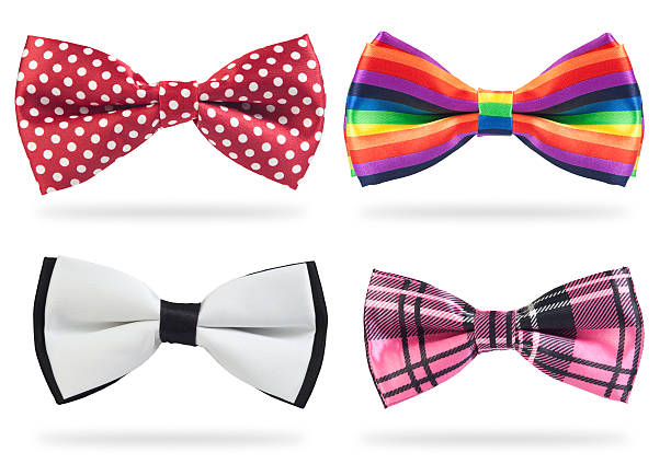 Bow ties Different kind of bow-ties with shadows, isolated on white bow tie stock pictures, royalty-free photos & images