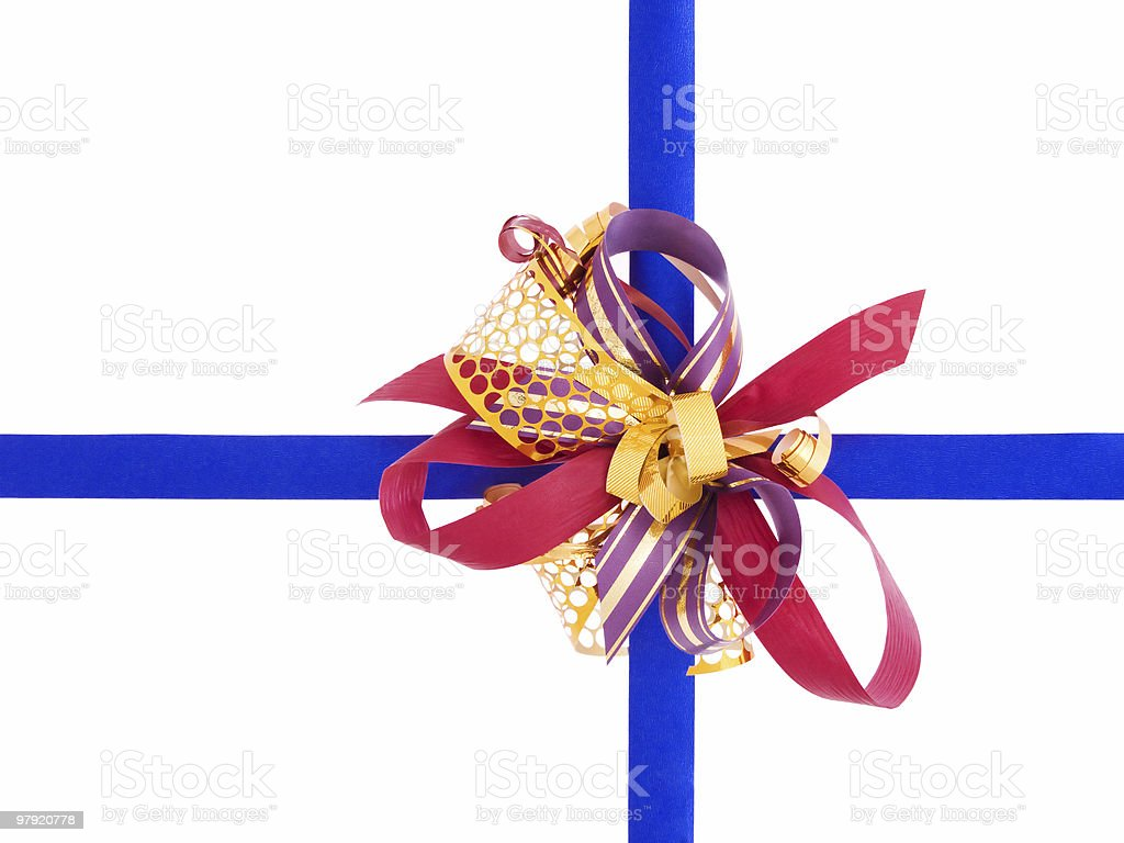 Bow with ribbon royalty-free stock photo