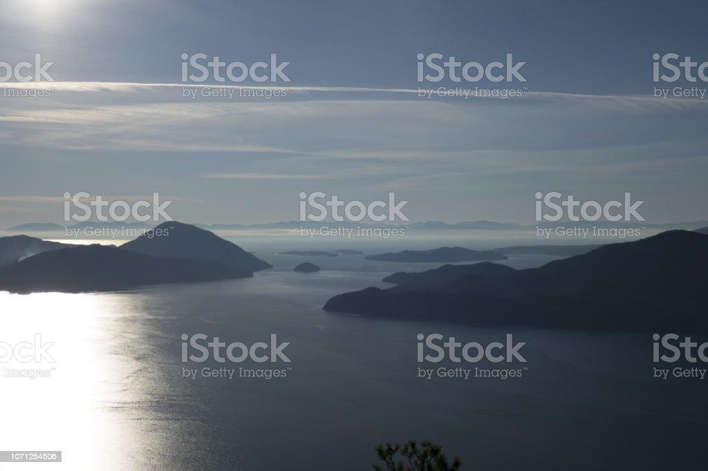 Bowen Island and Gambier Island stock photo