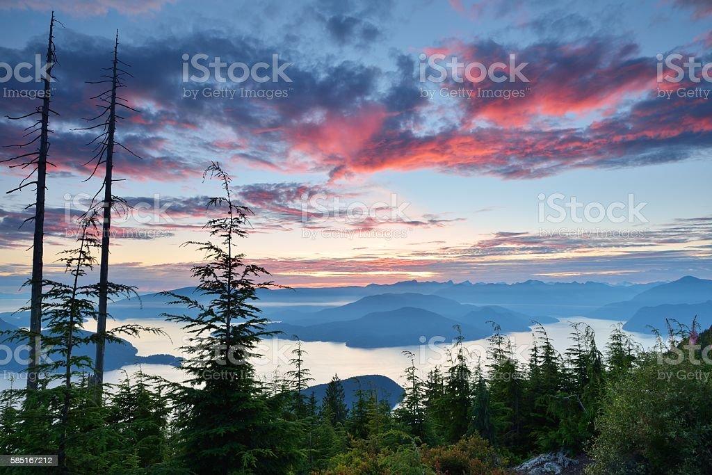 Bowen Lookout at Cypress Mountain stock photo