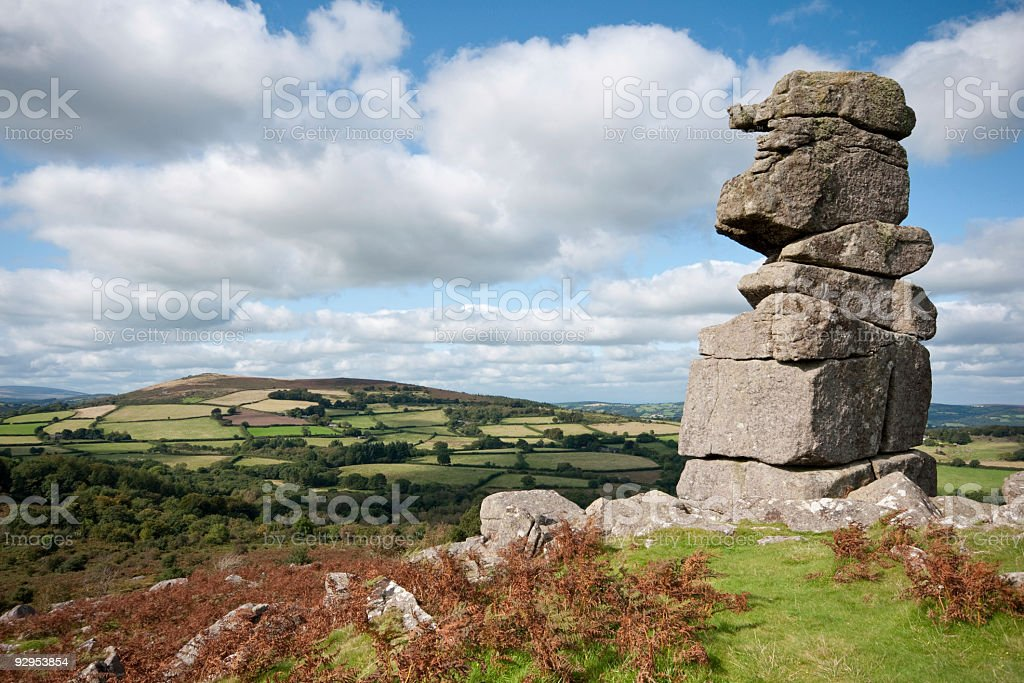 Bowerman's Nose Dartmoor National Park stock photo