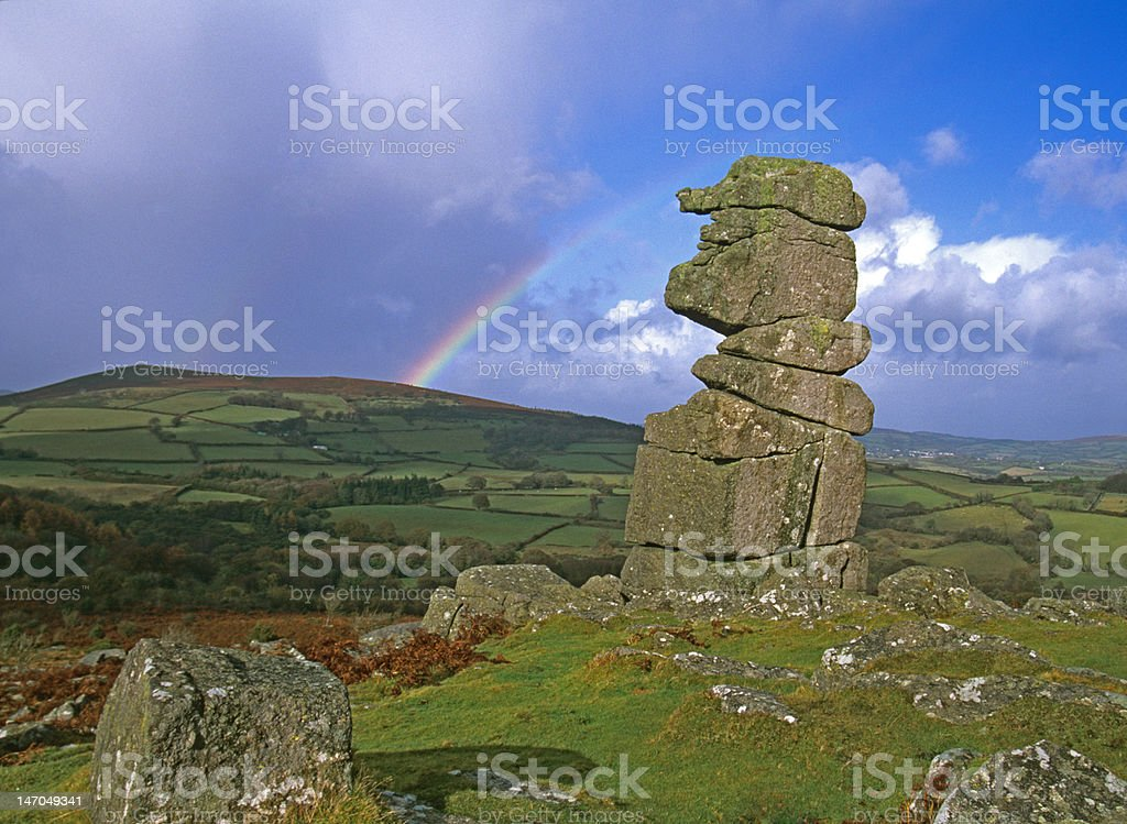 Bowermans Nose Granite Tor, Dartmoor stock photo