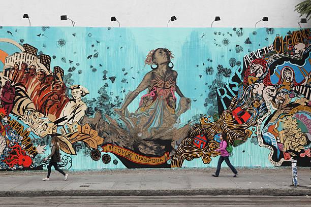 Bowery Wandgemälde Wand Künstler Da kann man ins Schwärmen geraten Hurrikan Sandy memorial – Foto