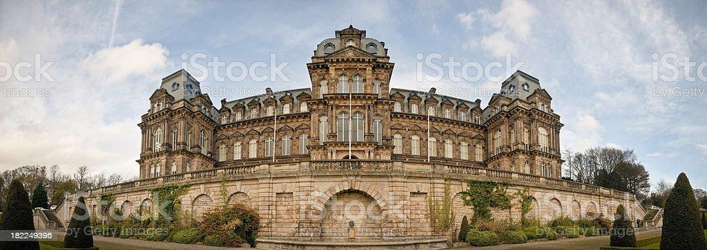 Bowes Museum panorama, Barnard Castle, Teesdale, Durham stock photo