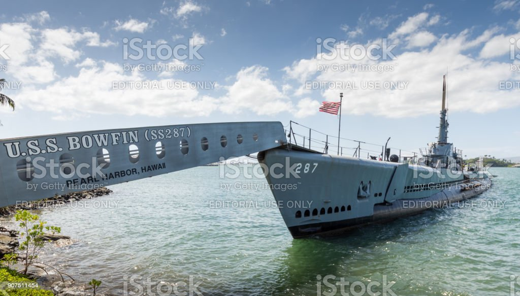 USS Bowfin Submarine,second world war. Pearl harbor (Oahu - Hawa stock photo
