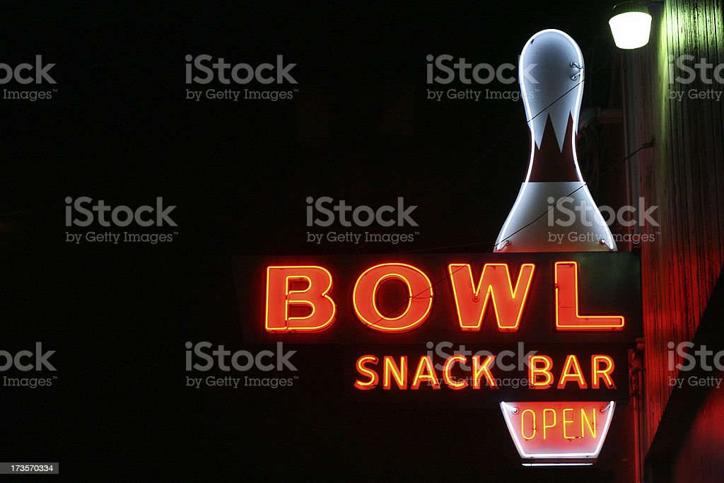 Bowl Alley Sign royalty-free stock photo