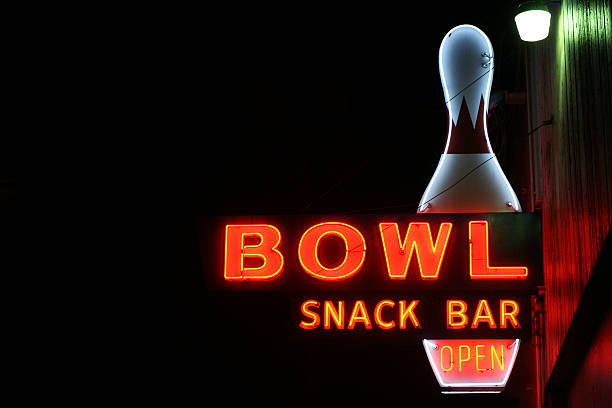 Bowl Alley Sign stock photo