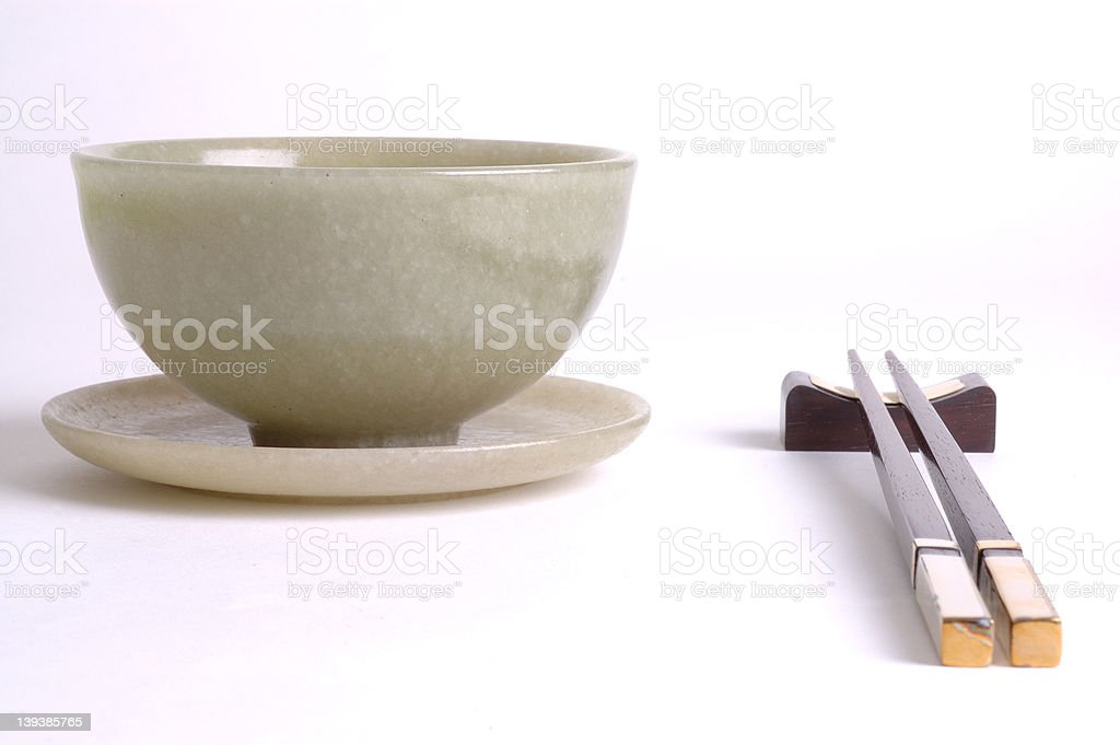bowl and chopstick 2 royalty-free stock photo