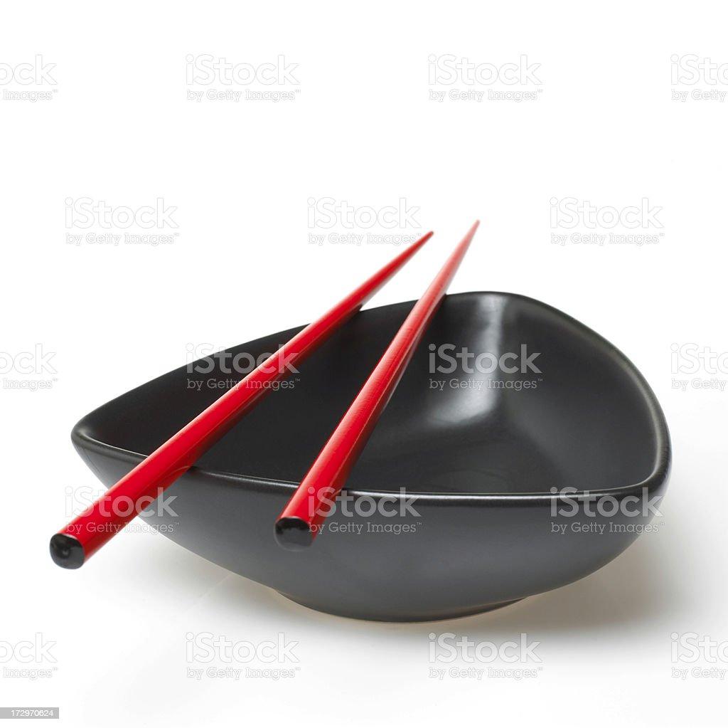 Bowl and chopsticks royalty-free stock photo