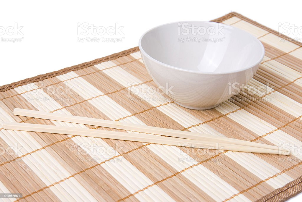 bowl and chopsticks royalty-free stock photo