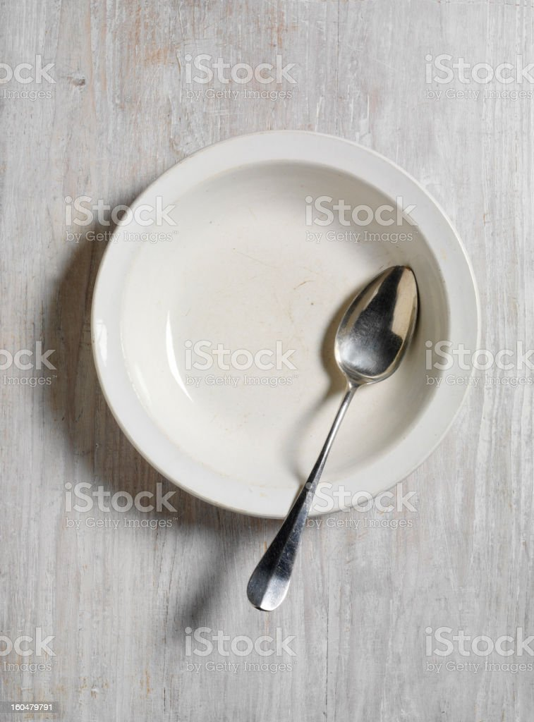 Bowl and Spoon stock photo
