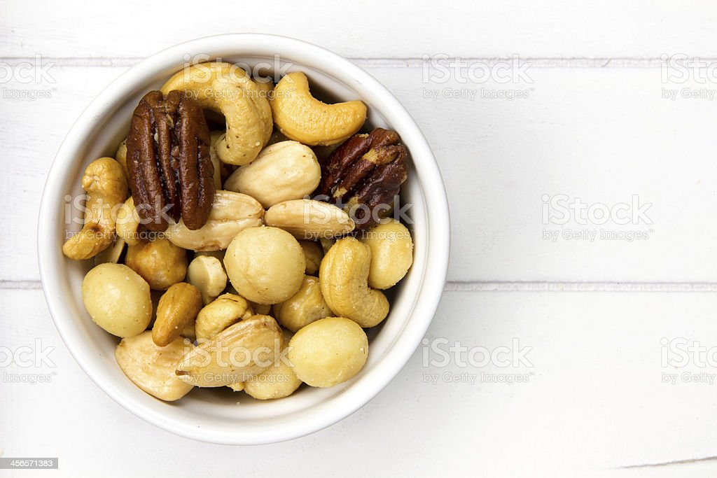 bowl filled with nuts royalty-free stock photo