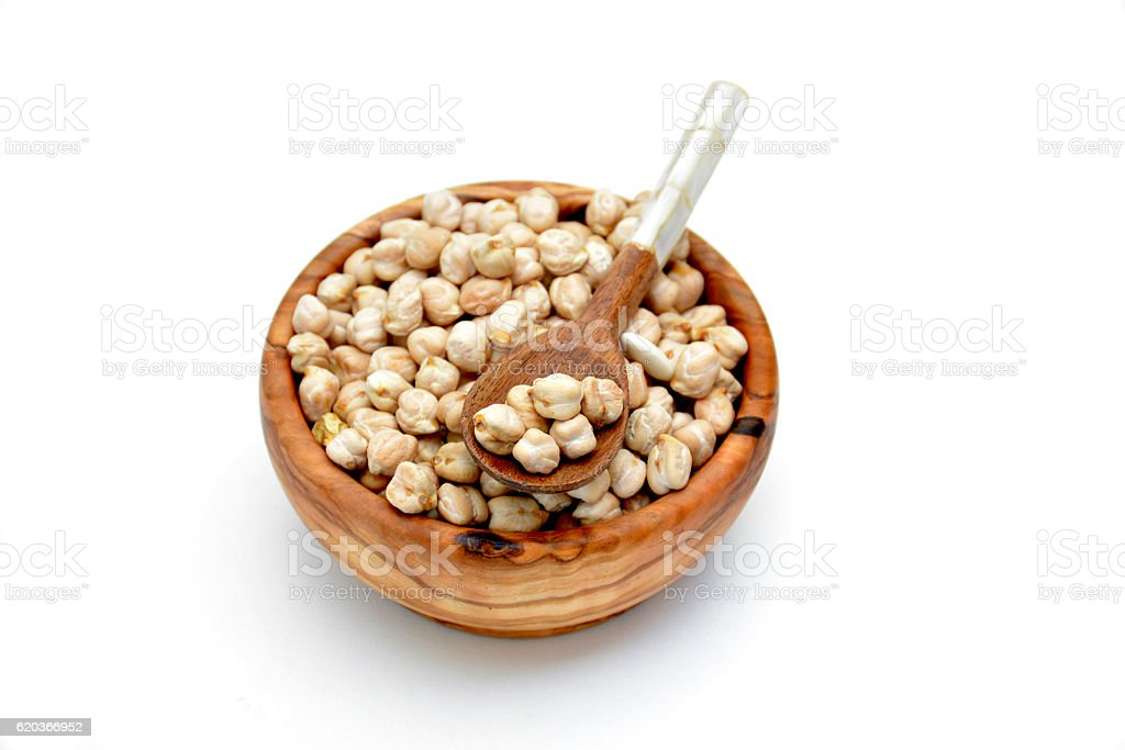 Bowl full of chickpeas foto de stock royalty-free
