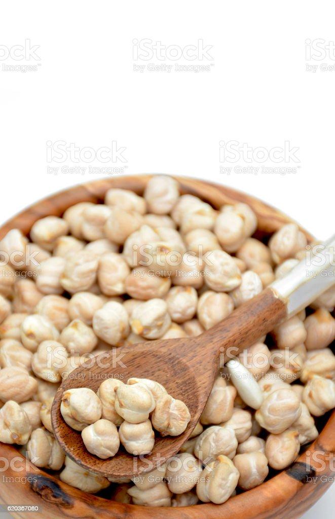Bowl full of chickpeas zbiór zdjęć royalty-free