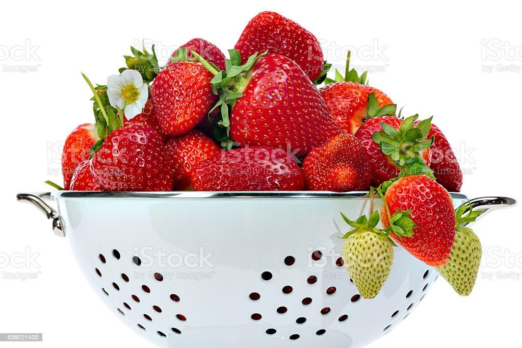 bowl full of strawberries stock photo
